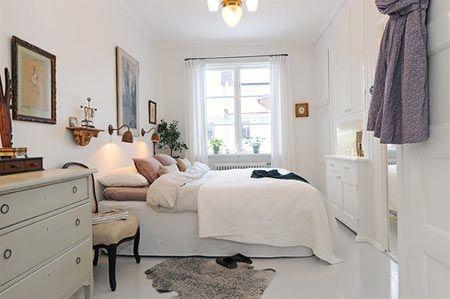 別墅臥室裝修效果圖:白色清爽簡約感,擁有干凈特質.