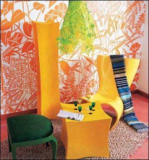 简约现代派手绘墙画 制造个性私家风景 -欢迎进入上海热线房产频道!